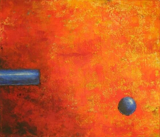 70x60cm, orange rot