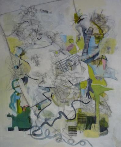 120x100cm, blatt papier