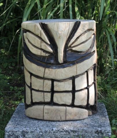 skulptur 1, kettensägenkunst