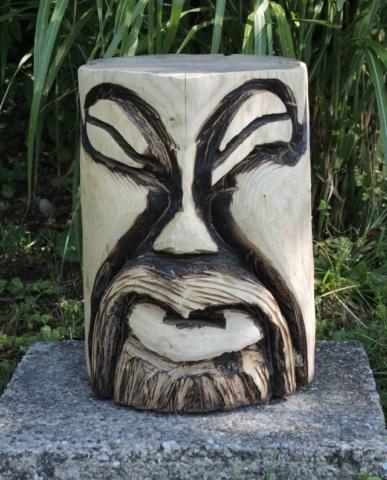 skulptur 2, kettensägenkunst