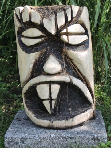 skulptur 3, kettensägenkunst