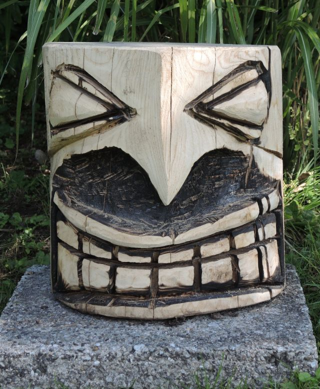 skulptur 4, kettensägenkunst