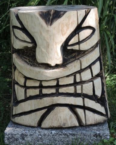 skulptur 5, kettensägenkunst