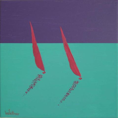 30x30cm, sailing 1
