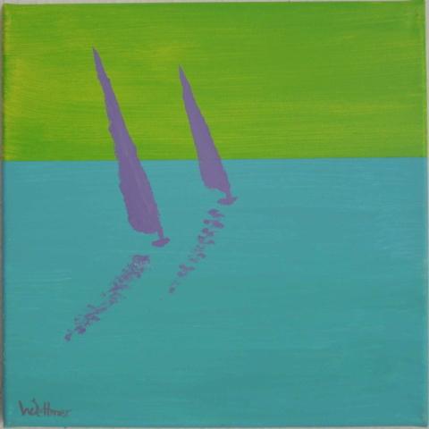 30x30cm, sailing 5