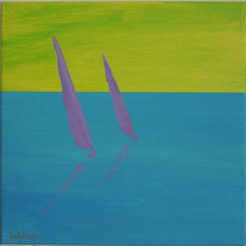 30x30cm, sailing 10